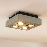 Vince GU10 spotlight with LED bulbs