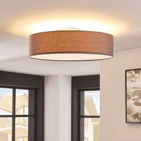 Grey LED fabric ceiling light Sebatin
