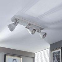 Concrete LED ceiling light Kadiga  3 bulbs