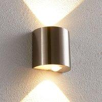 Semi circular LED wall light Lareen  satin nickel