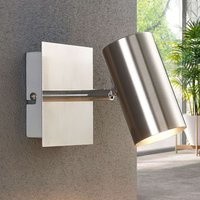 Nickel colour LED wall and ceiling spotlight Iluk