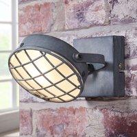 Smoky grey LED spotlight Tamin  industrial style