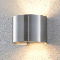 Round  aluminium coloured LED wall lamp Zuzana