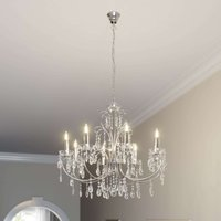 Impressive chandelier Solveig in chrome