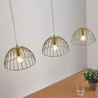 Cage hanging lamp Deria  brass coloured  3 bulb