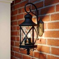 Lucande Marcellino outdoor wall light  rust colour