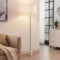 Lindby Josias floor light with fabric shade  white