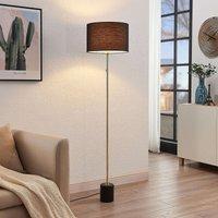 Lindby Josias fabric floor lamp in black