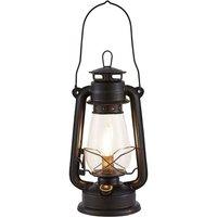 Lindby Raisa table lamp  lantern  rust coloured