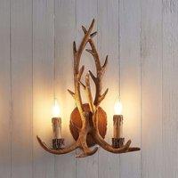 Lindby Fibi wall light  antlers  brown