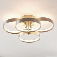 Lucande Naylia LED ceiling light  nickel  dimmable
