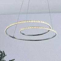Lindby Lucy LED hanging light  45 cm  crystal