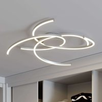 Lindby Katris LED ceiling light  73 cm  aluminium