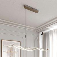 Lucande Mairia LED hanging light height adjustable
