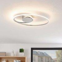 Lindby Xenias LED ceiling light  chrome 49 x 30 cm