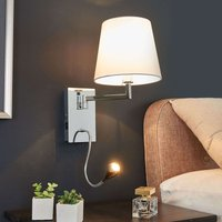 Rasmus   wall light with LED reading lamp