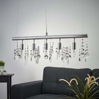 Sparkling Crystal hanging light with 5 bulbs