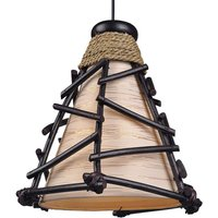 Decorative Romy pendant light with wood