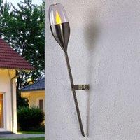 Solar wall light Jari with flickering LED
