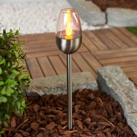 Three Lugin stainless steel LED solar lamps