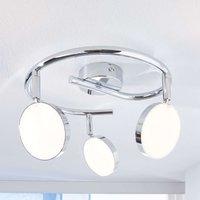 Keylan LED ceiling spotlight  three bulb  round