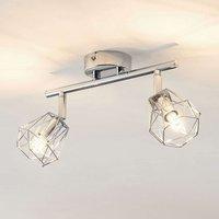 Lindby Giada LED ceiling spotlight  two bulb