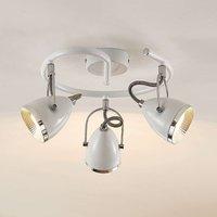 Lindby Jadon LED light white 3 bulb 29 7 cm