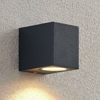 ELC Fijona LED outdoor wall lamp  angular  8 1 cm