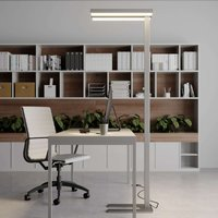 Dimmable LED office floor lamp Logan 4 000 K
