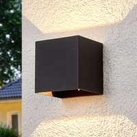 Angular LED outdoor wall lamp Evie
