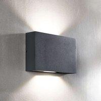 Isalie LED outdoor wall light in dark grey