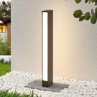 Lirka LED path light  dark grey  two bulb