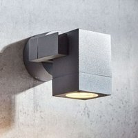 Kavuna outdoor spotlight  dark grey IP54 angular