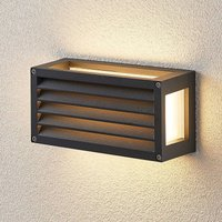 Harpa LED outdoor wall lamp 25 x 12 5 cm grooves