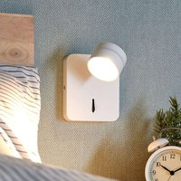 Moving  white LED wall lamp Vidda with switch