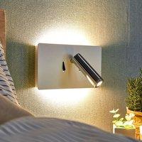 LED wall light Elske with reading light