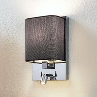 Eleanor fabric wall light with LED reading light