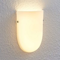 Genele LED wall light with a glass lampshade