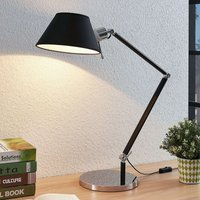 Alika desk lamp with a fabric lampshade  black