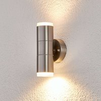 Stainless steel outdoor wall light Delina