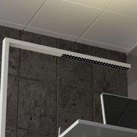 White LED office floor lamp Jolinda  dimmable