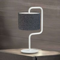 Morfeo fabric table lamp in anthracite