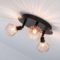 Attractive circular ceiling spotlight Dalma 3 bulb