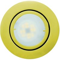 Golden LED recessed light Joanie  pivotable