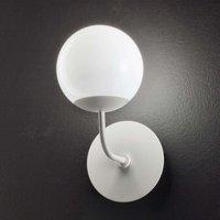 Round LED wall light Sfera  white