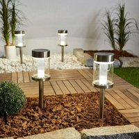 Set of 4 LED solar lights Paolo  metal and glass