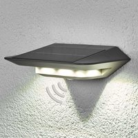 Ghost LED solar wall light   with motion detector