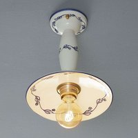 Ceramic semi flush ceiling light Linea Ribes