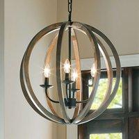 4 light pendant light Allier  made of wood 52 1 cm