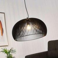 Gasperi hanging light  slatted lampshade  black